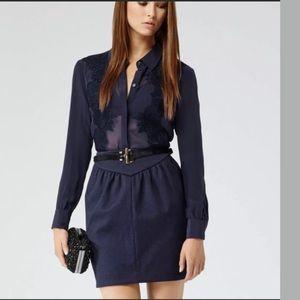 Reiss Blue Charlene Pencil Skirt Size 8